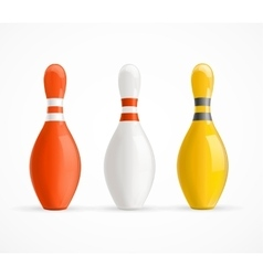 Colorful Bowling Pins vector image vector image
