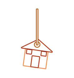 Decorative pendant with house vector