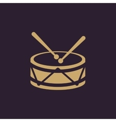 Drum icon design music and toy drum symbol web vector