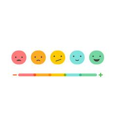 emoticons temperature scale concept design vector image vector image
