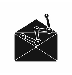 Envellope with graph icon simple style vector