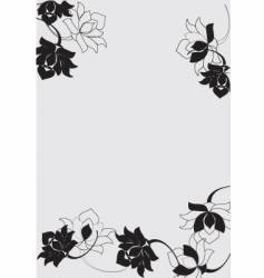 floral border design vector image vector image