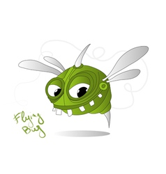 flying bug vector image vector image