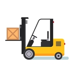 Forklift in Warehouse Flat styled vector image vector image