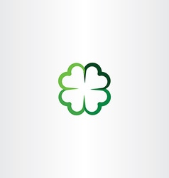 four leaf clover luck icon clip art vector image vector image