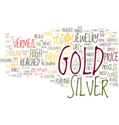 Gold versus silver jewelry text background word vector
