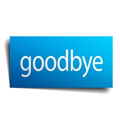 Goodbye blue paper sign on white background vector