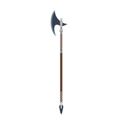 Halberd weapon medieval ancient vintage old vector