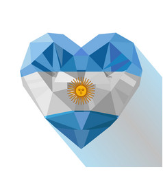 Heart with the flag of the argentine republic vector