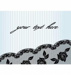 horizontal black french lace background vector image