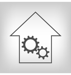 House with gear wheels vector image vector image