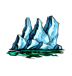iceberg above the water vector image