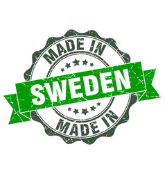 Made in sweden round seal vector