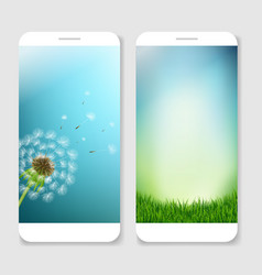 mobile smartphones template vector image