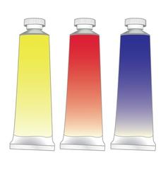 Paint tubes set vector