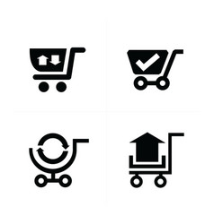 Shopping cart icons and symbol vector
