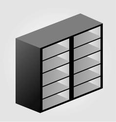 Simple wooden bookshelf design vector image vector image
