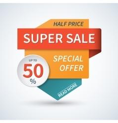 Super sale special offer banner background vector image