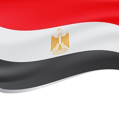 Waving flag of Egypt isolated on white vector image vector image