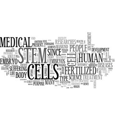What do you need to know about stem cells text vector