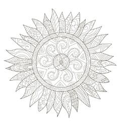 Mandala flower sunflower coloring for vector