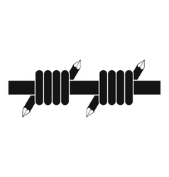 Barbed wire icon simple style vector