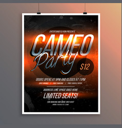 Shiny flyer banner template for party music vector