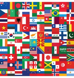 Background made of flag icons vector