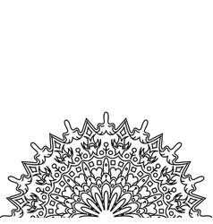 ornament black white card with mandala vector image