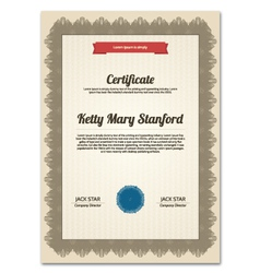 Multipurpose vertical certificate vector image