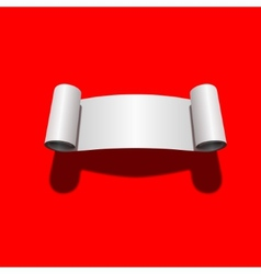 Roll of blank white paper vector