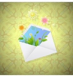 Summer mail vector image