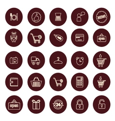 Shopping and retail related icons set vector