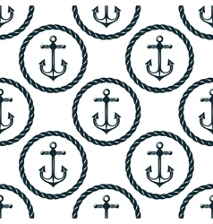 Seamless pattern of marine anchors vector
