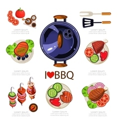 Bbq infographics vector