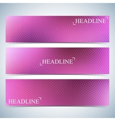 Set of horizontal multicolored backgrounds for vector