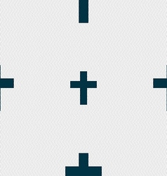 Religious cross christian icon sign seamless vector