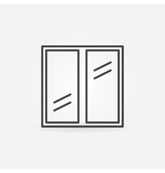 Plastic window icon vector