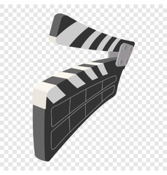 Clapperboard cinema cartoon icon vector