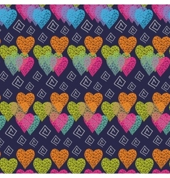 Abstract multicolored hearts vector
