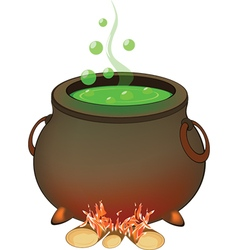 Magic cauldron halloween accessory object vector