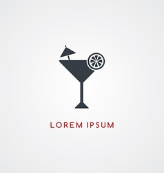 Cocktail restaurant theme icon sign logotype vector