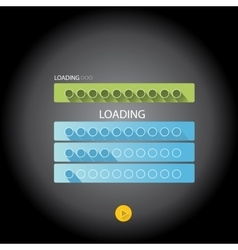 Preloaders and progress loading bars vector
