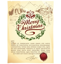 Calligraphic christmas lettering vector