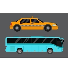 City road taxi transport vector