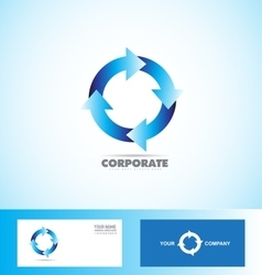 Corporate arrow circle logo loop seamless vector