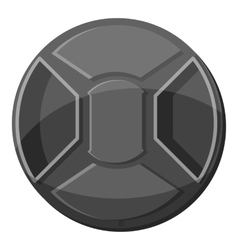 Cover on lens camera icon gray monochrome style vector
