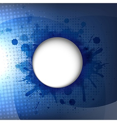 Dark Blue Background With Speech Bubble vector image vector image