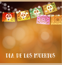 Dia de los muertos day of the dead or halloween vector