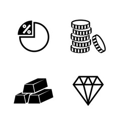 finance and banking simple related icons vector image vector image